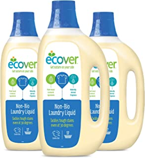 ECOVER Bundle - Non Bio Laundry Liquid, 1.5L (Pack of 3),