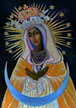 Our Lady of the Gate of Dawn Virgin Mary POSTER A3 Black Madonna Picture Image for Wall Catholic Religious Wall Art Lithuania Vilnius