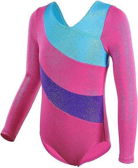 HUAANIUE Classique Ballet Justaucorps de Gymnastique Danse Fille 3-14 Ans Leotard Combinaison Bodysuit Enfant