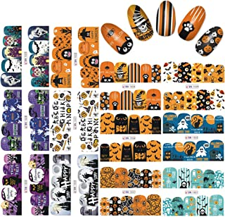 KADS 1pc Halloween Nail Art Sticker Set Water Stickers For Nails Water Transfer Decal Decoration Nail Tools