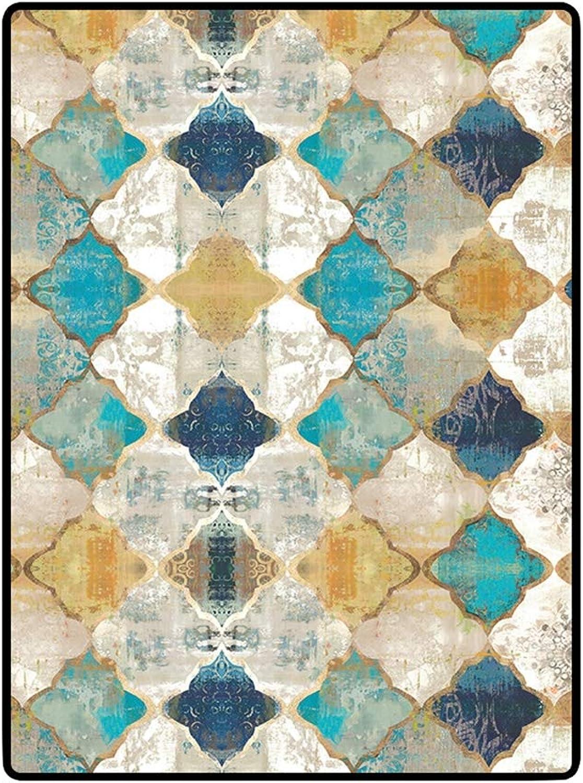 TWGDH Morrocan Estilo dormitorios Gran Alfombra Felpa Lavable Moderno geométrico Ondulado líneas área Alfombra, Piso de decoración Interior alfombras Antideslizantes,80×160cm
