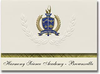 Signature Announcements Harmony Science Academy - Brownsville (Brownsville, TX) Graduation Announcements, Presidential Bas...