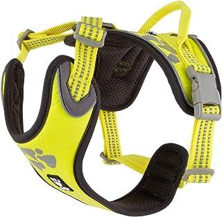 Hurtta Weekend Warrior Dog Harness, Neon Lemon, 24-32 in