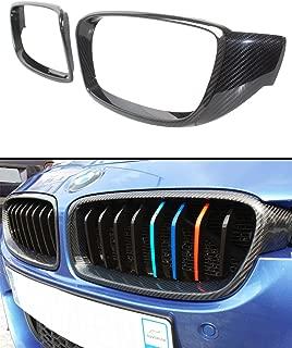 Fits for 2012-2018 BMW F32 F33 F36 4 Series & F82 F83 M4 Carbon Fiber Kidney Grill Insert Trim Cover