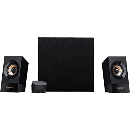 Logitech Z533 2.1 Multimedia Speaker System with Subwoofer, Powerful Sound, 120 Watts Peak Power, Booming Bass, 3.5mm Audio and RCA Inputs, PC/PS4/Xbox/TV/Smartphone/Tablet/Music Player/EU Plug only