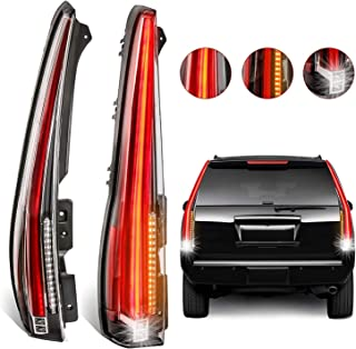 MOSTPLUS LED Tail Lights Rear Lamp for 2007-2014 Chevy Tahoe Suburban GMC Yukon Denali Set of 2
