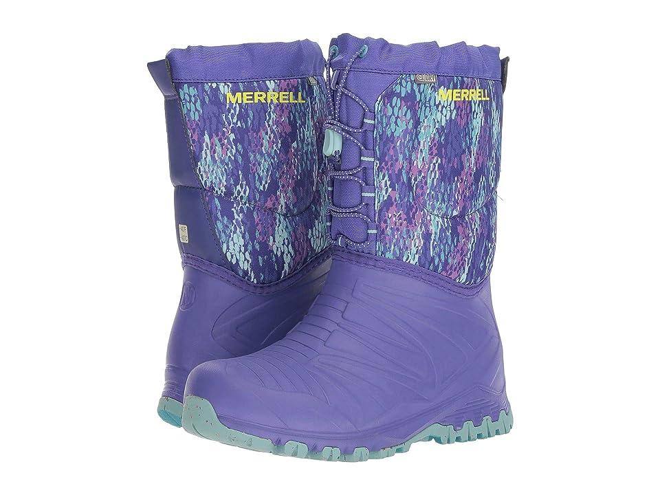 Merrell Kids Snow Quest Lite Waterproof (Big Kid) (Purple/Print) Girls Shoes
