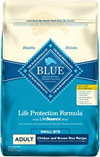 Blue Buffalo Life Protection Formula Adult Small Bite Dog Food – Natural Dry Dog Food for Adult Dogs – Chicken and Brown Rice – 30 lb. Bag