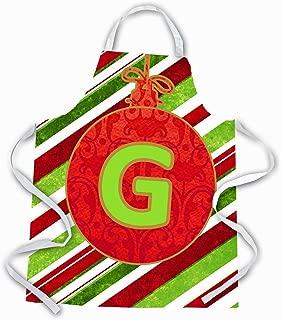 Caroline's Treasures CJ1039-GAPRON Christmas Ornament Holiday Initial Letter G Apron, Large, Multicolor