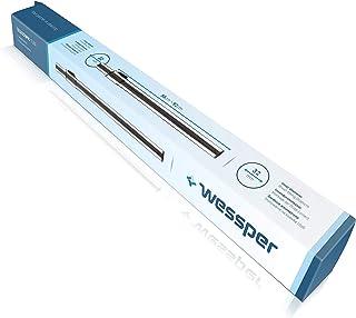 Wessper Tubo rígido para aspiradoras, Plateado, diámetro de 32 mm