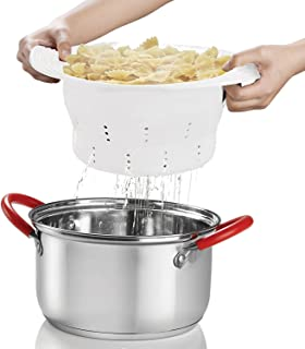 INNOKA Collapsible Silicone Colander Strainer, Foldable Strainer Sizes 10.4