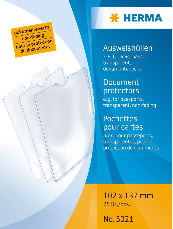 Premium durchsichtige Kunststoff Ausweishülle Schutzhülle Doppelhülle für