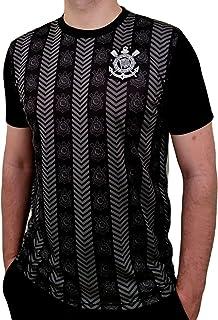 Camisa Oficial Corinthians Silver Logo Preta Oficial
