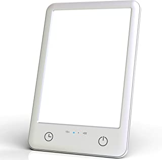 Charmax 10000ルクス光療法 ライトセラピー タイマーオフ ホワイトフルスペクトル ベッドサイドランプ LED SLT001