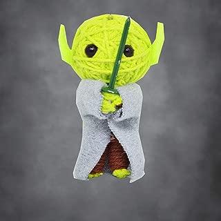 Yoda Star Wars Voodoo String Doll Keychain Key Ring VooDoo Key Tags Chains