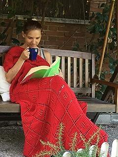 Coperta lavorata a mano al 100%, copriletto, per bambini o ragazzi, abbellimento per divano e poltrona, medio, acrilico mo...