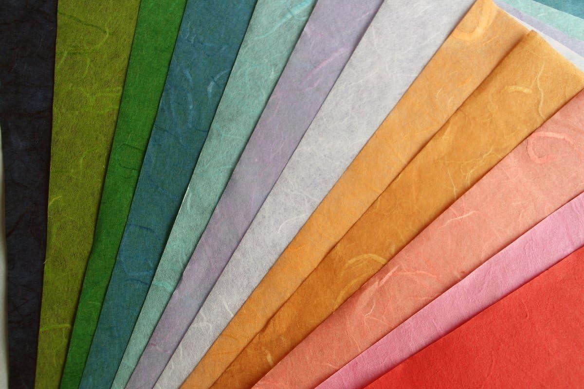 10 Mulberry Paper Size A4 Sheet Design Craft Hand Made Art Tissu