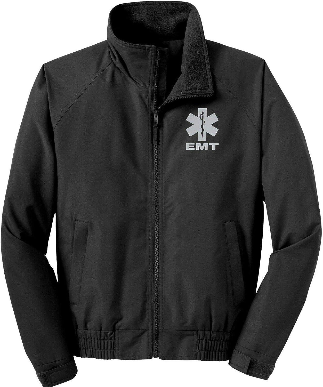 Smart People Clothing EMT Economy Jacket, Reflective Logo Fleece Lining Emergency Medical Black