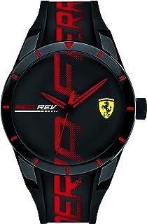 Scuderia Ferrari Hommes Analogique Quartz Montres bracelet avec bracelet en Silicone - 830614