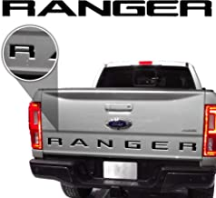 Bogar Tech Designs - Tailgate Inlay Decal Sticker Vinyl Letters Compatible with Ford Ranger 2019, Matte Black
