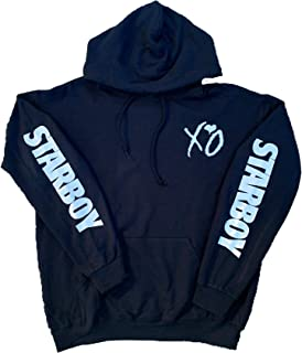 Starboy XO Hoodie with XO on Front and Back with Starboy on Sleeves (White Print)