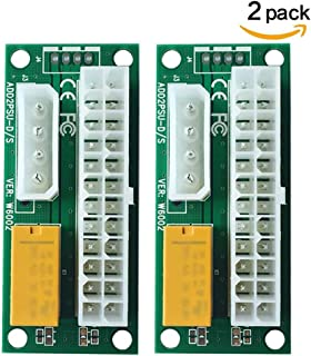 BAY Direct 2-Pack Add2PSU Multiple Power Supply Adapter (ATX 24Pin to Molex 4Pin) and Daisy Chain Connector-Ethereum Minin...