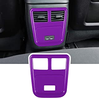 E-cowlboy Rear Air Conditioner Outlet Vent Trim Cover Interior Decoration Accessories for 2011-2021 Dodge Charger Chrysler 300 ABS (Purple)