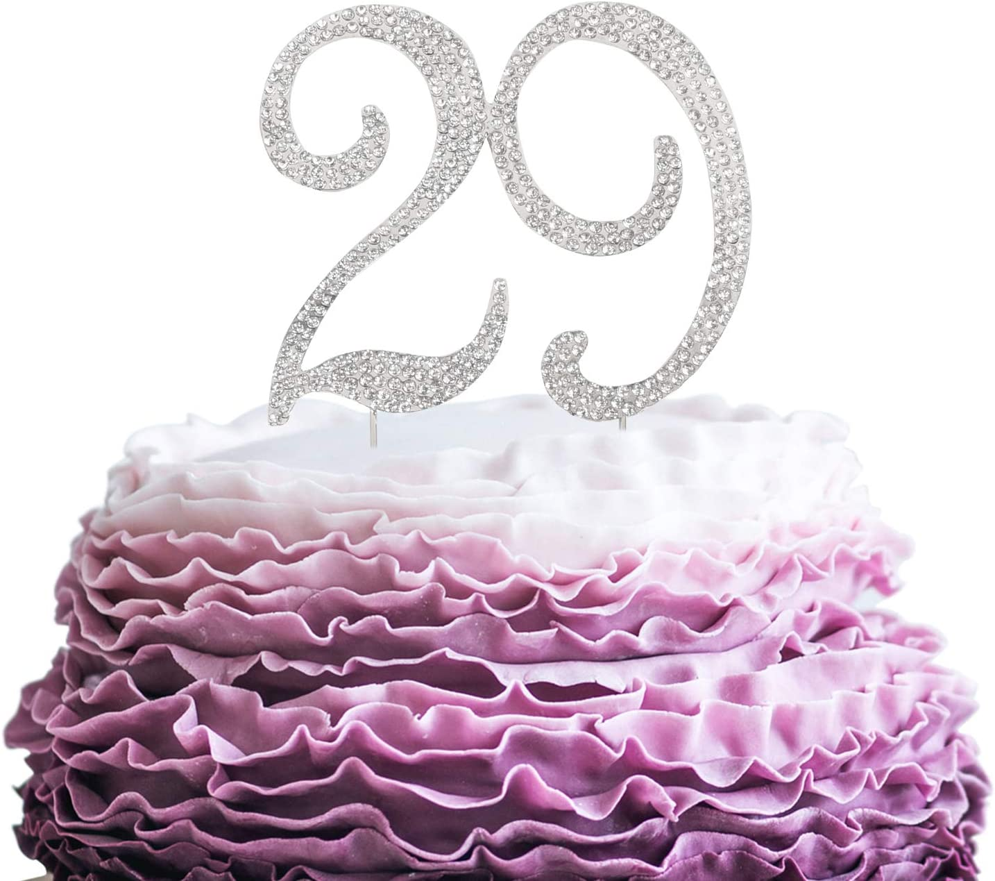 LINGPAR 29 Years Birthday Cheap Cake Topper Rhinest New Max 60% OFF Crystal - Best