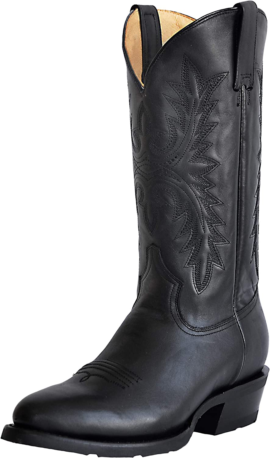 Mens Western Leather Cowboy Boots Duke Round We OFFer at cheap Easy-to-use prices by Heritage Si Toe