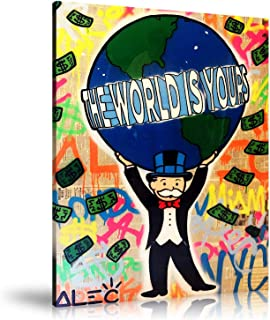 Alec monopoly high definition oil painting for home wall decoration, art on canvas, the world is under your control (Unframed,18x24inch)