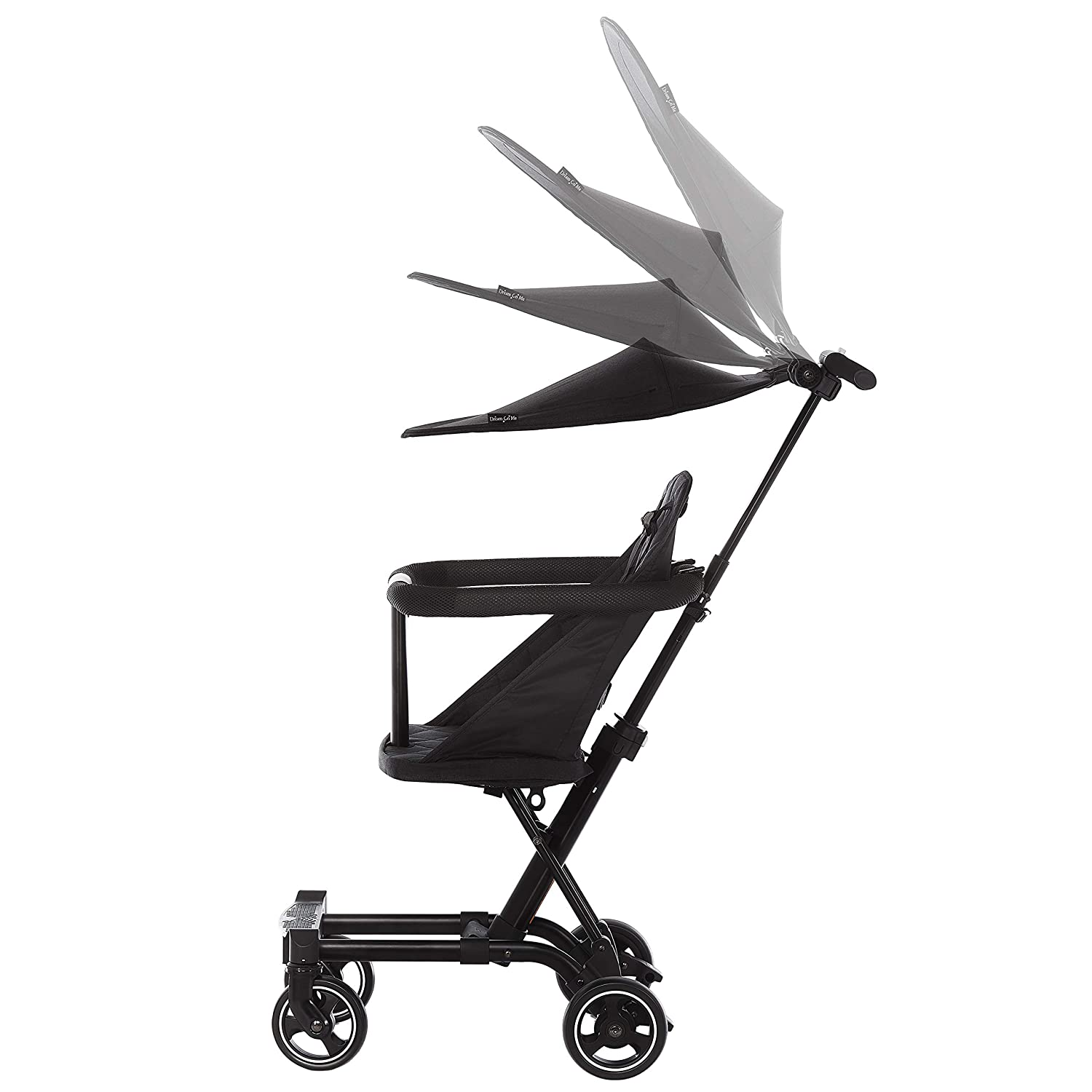 Dream On Me Coast Rider Travel Stroller Lightweight Stroller Compact Portable and Vacation Friendly Stroller, Black