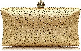 Modische Damen-Clutch-Tasche mit Glitzersteinen, für Abendveranstaltungen, Abschlussbälle, Partys