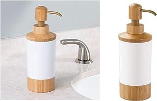 Bosphorus Liquid Soap Dispenser, White/Brown, 85348ES