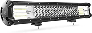 LED Light Bar Nilight 20Inch 288w Triple Row Flood Spot Combo 28800LM Led Bar Driving Lights Boat Lights Led Off Road Lights for Trucks,2 Years Warranty