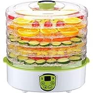 Food Dehydrator,PowCube Fruit... Food Dehydrator,PowCube Fruit Dryer Machine Electric 5 Tier Food Preserver with Adjustable...