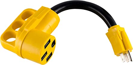 MaxxHaul 80708 Dogbone RV/Electrical Adapter 15Amp Male to 50 Amp Female with Handle for Easy Removal