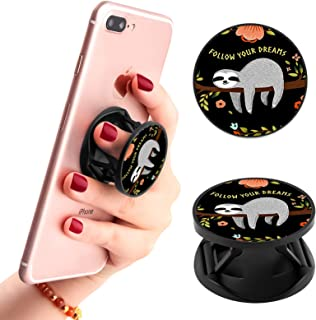 Multi-Functional Cute Sloth Cell Phone Finger Foldable Expanding Stand Holder Kickstand Hand Grip Car Mount Hooks Widely C...