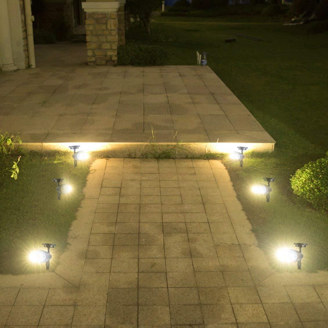 fghdfdhfdgjhh 3 LED Alimentado por energía Solar Foco LED Jardín al Aire Libre Paisaje Césped Patio Patio Solar Luz de lámpara Automático Encendido: Amazon.es: Hogar