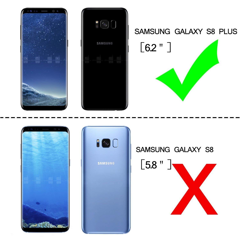 LeYi Funda Samsung Galaxy S8 Plus Armor Carcasa con 360 Anillo ...
