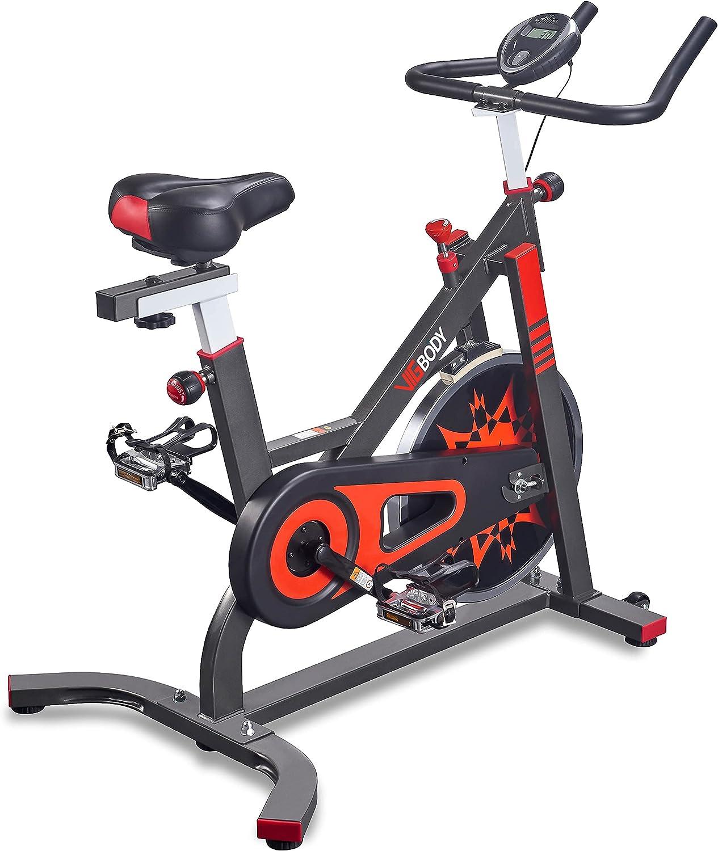 Buy VIGBODY Exercise Bike Indoor Cycling Bicycle Stationary Bikes Cardio Workout Machine Upright Bike Belt Drive Home Gym Online in India. B07NJL3X2X