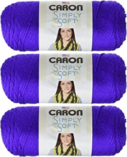 Caron Bulk Buy Simply Soft Yarn Solids (3-Pack) Iris H97003-9747