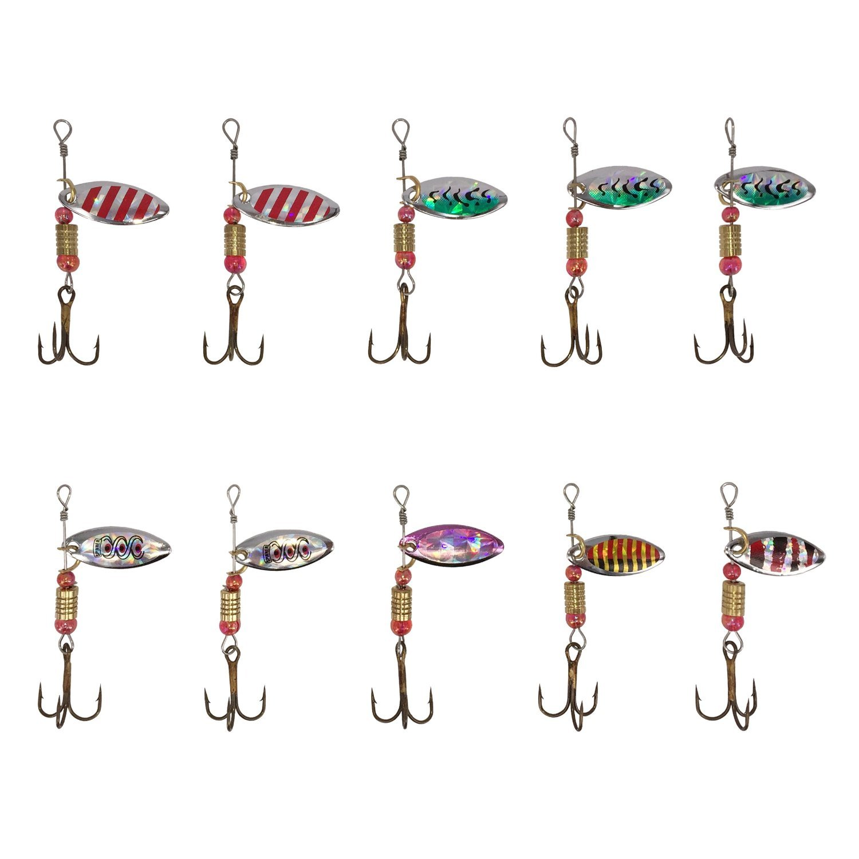 JT-Amigo 30pcs Spinner Set Cucharillas Pesca para Lucio Perca ...