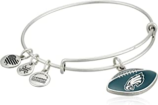 Women's Color Infusion Philadelphia Eagles Football II EWB Bracelet, Rafaelian Silver, Expandable