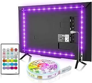 Led TV Hintergrundbeleuchtung, BASON USB LED Streifen 2.5m/8.2ft für 32-58 Zoll, DIY RGB Led Strip TV Led Beleuchtung mit ...
