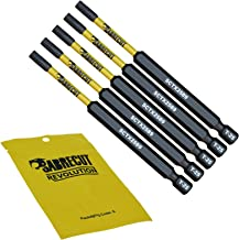 Juego de 5 puntas de destornillador de impacto magn/éticas Torx resistentes para Dewalt Milwaukee Bosch Makita y m/ás SabreCut SCTX30152/_5 T30 TX30