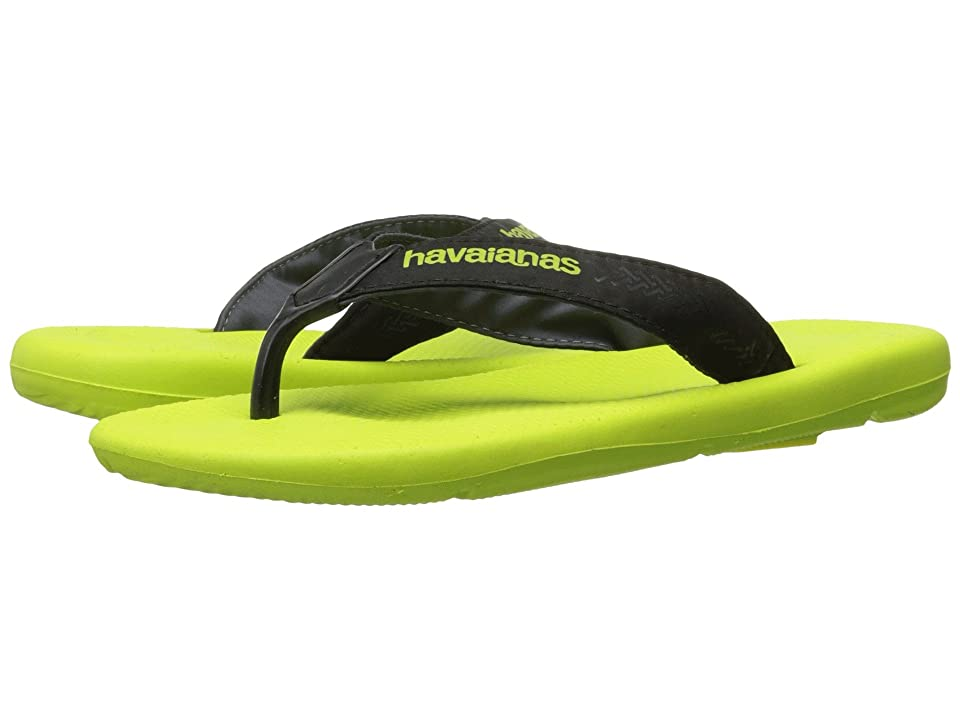 Havaianas Surf Pro Flip Flops (Yellow Led/Black) Men