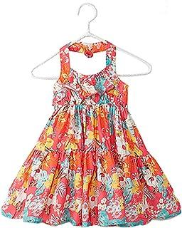 キャミワンピース 清々しい 夏 花柄 子供ドレス