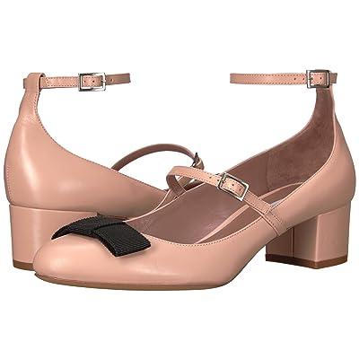 Tabitha Simmons Rubia (Flesh Calf/Black Grosgrain) High Heels