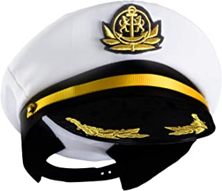 Yacht Captain Hat - Sailor Cap, Skipper Hat, Navy Marine Hat - Costume Accessories by Funny Party Hats