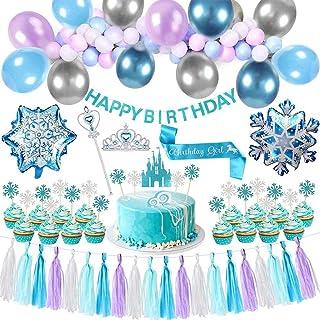 Brain Giggles Frozen Theme Birthday Decoration - Frozen Theme Tableware - Frozen Theme Party Supplies (BIRTHDAY DECORATION)